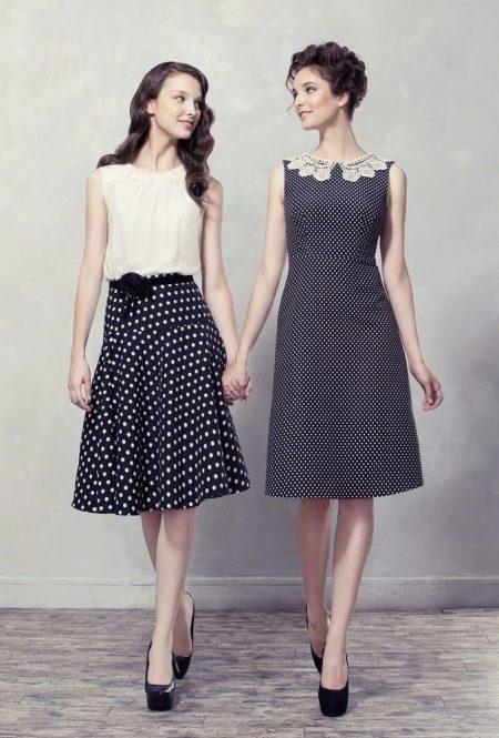 черно-белые платья из поплина