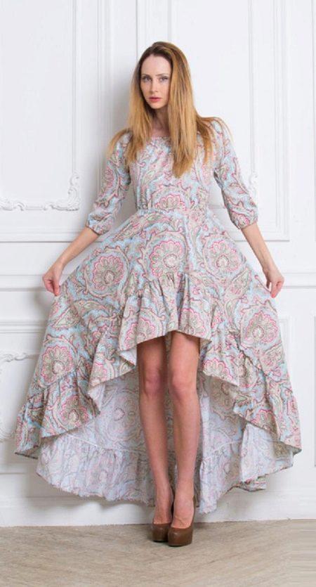 платье из хлопкового стаина