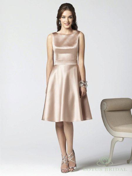 платье из шелк-сатина