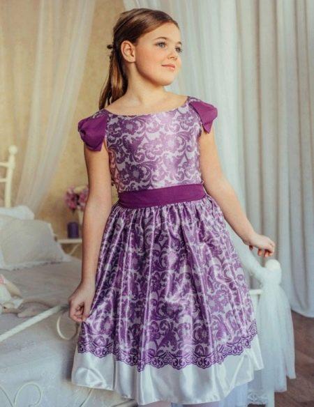 Фиолетовое платье на выпускной 4 класс