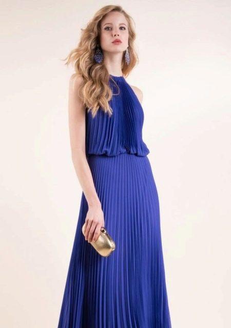 Украшения к синему платью