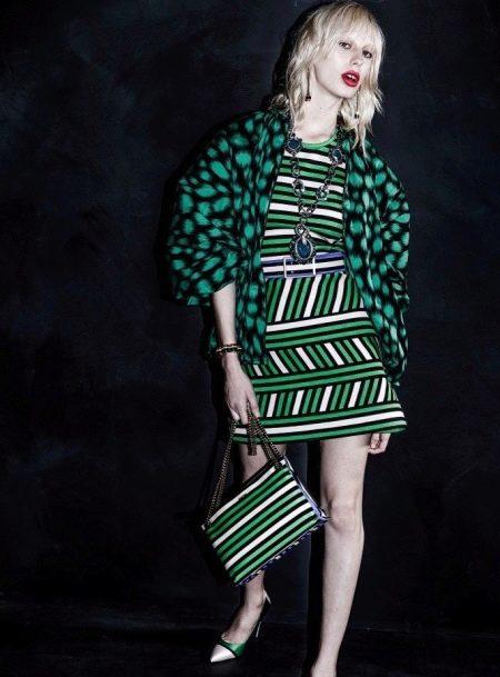 аксессуары к зеленому платью
