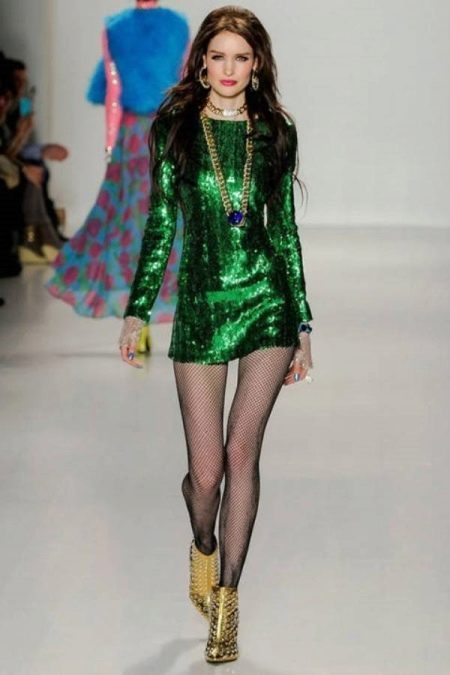 Обувь к короткому зеленому платью