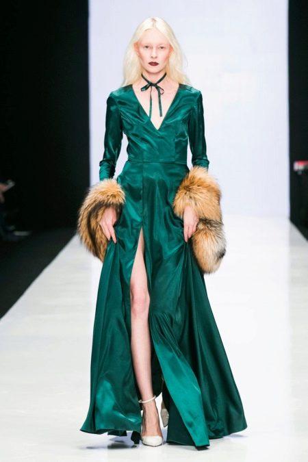 Белые туфли к зеленому платью