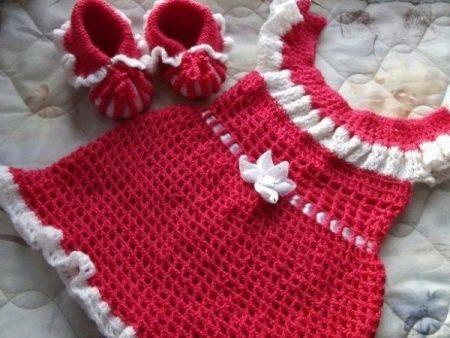 Платье с кокеткой для девочек до 3 лет