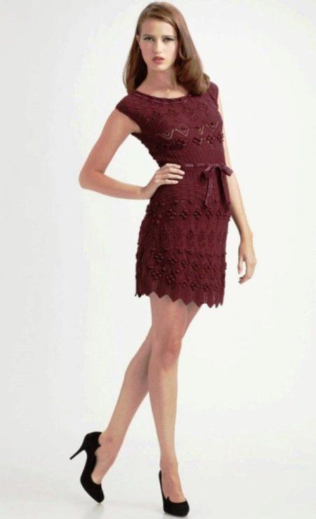 Вязаное платье спицами от Диор