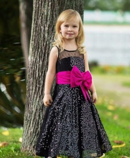 Выпускное платье в детский сад черное