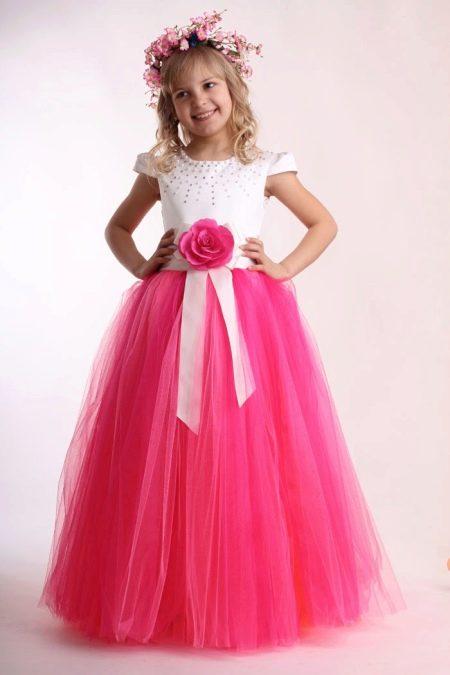 выпускное платье в детский сад а-силуэта