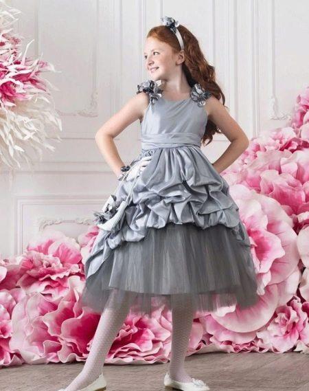 Выпускное платье в детский сад серое