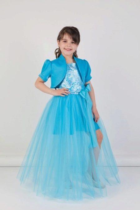 Выпускное голубое платье-трансформер в детский сад