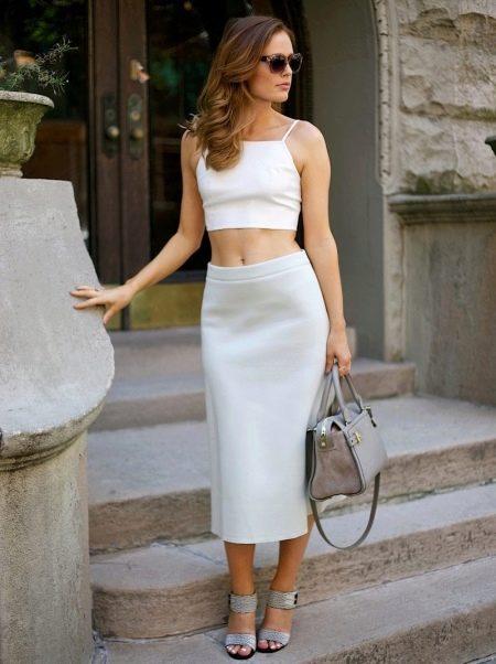 Длинная юбка карандаш для женщин с не идеальными ногами
