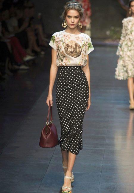 Длинная юбка карандаш для девушек с фигурой типа прямоуголник
