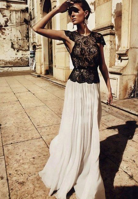 Длинная юбка полусолнце - романтичный образ