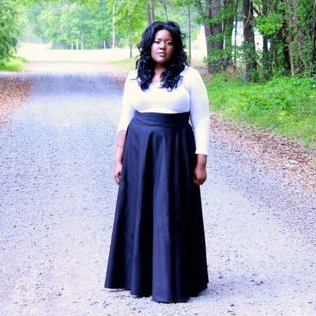 Длинная юбка полусолнце для полных женщин