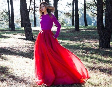 Красивая длинная юбка в пол