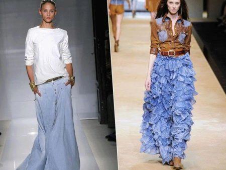 с чем носить летние юбки в пол
