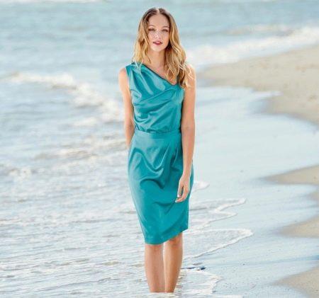Коктейльное асимметричное платье своими руками