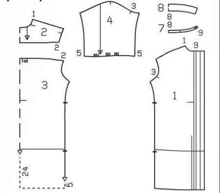 Выкройка к платью-рубашке