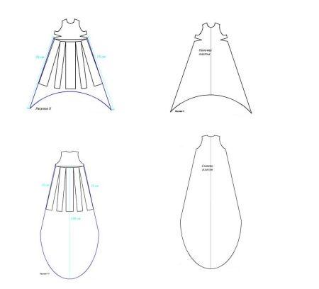 Выкройки платья из шифона