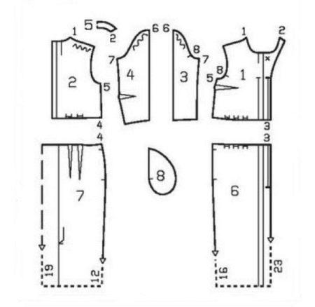Выкройка винтажного платья