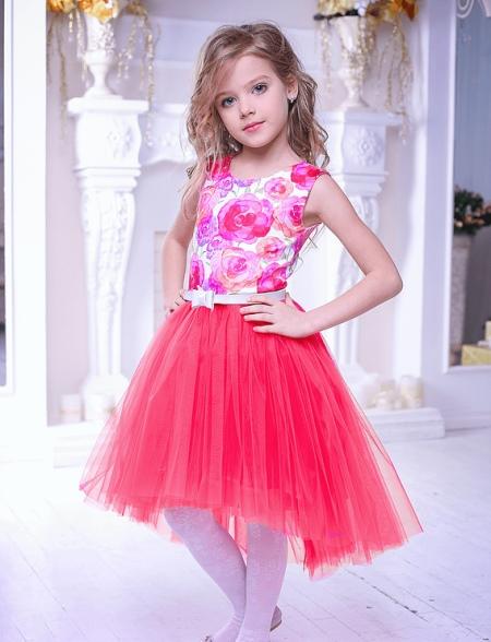 Коктейльное платье для девочки красное