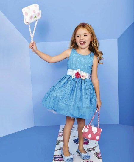 Коктейльное платье для девочки с поясом