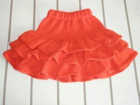 Вязаная многослойная юбка