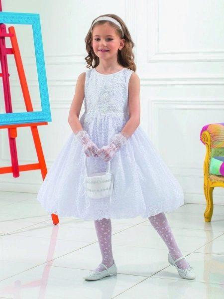 Новогоднее платье для девочки А-силуэта
