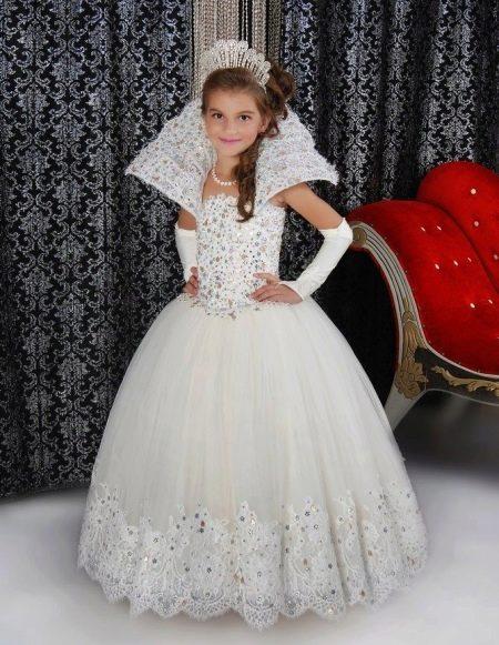 Новогоднее платье со стразами пышное для девочки
