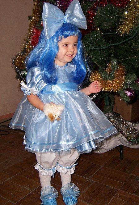 Новогоднее платье Мальвины для девочки