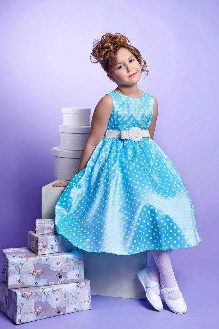 Новогоднее платье для девочки в стиле ретро