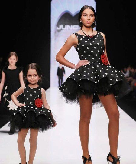 Новогоднее платье для девочки в стиле family look