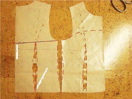 Выкройка корсета на платье для девочки