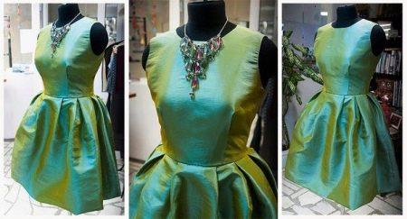 платье из тафты шанжан