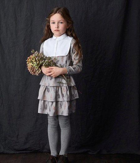 платье для девочки 5 лет на каждый день с рюшами