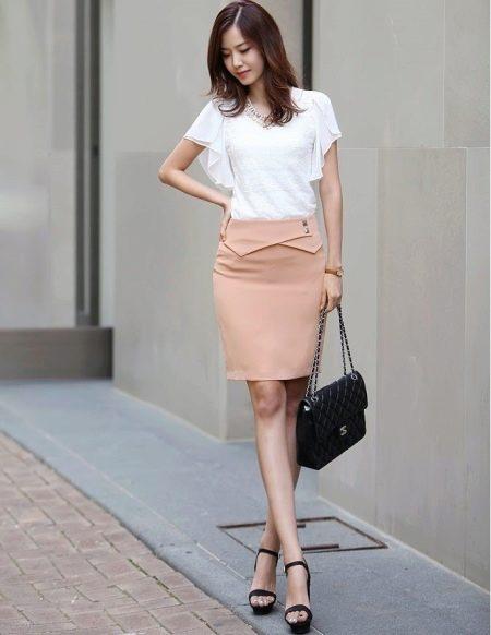 Прямая юбка с кокеткой