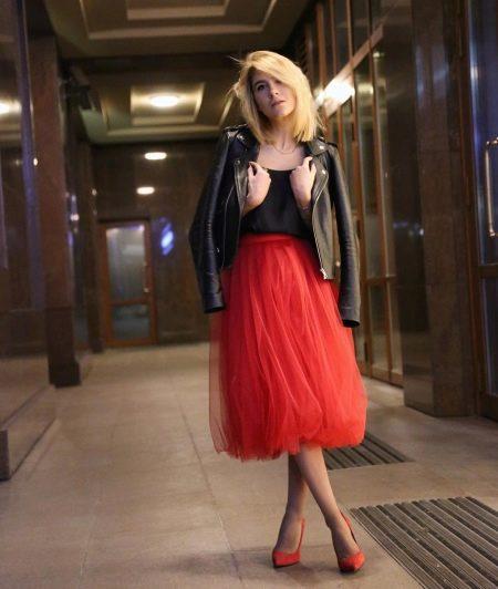 юбка-миди в вечернем образе