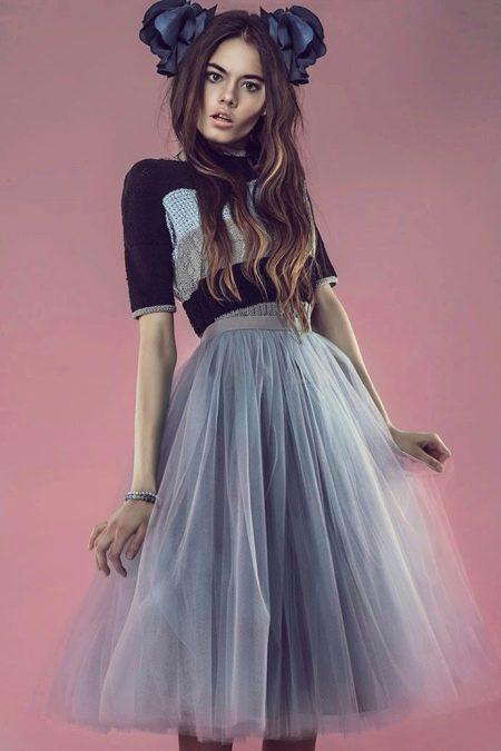 юбка-пачка соедней длины