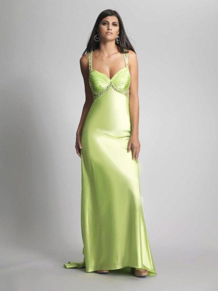 Красивое салатовое платье