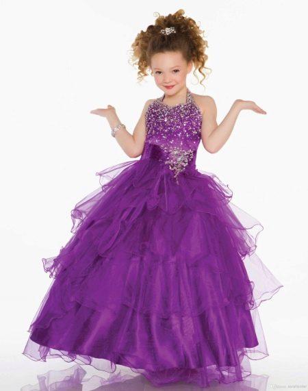 Шикарное  пышное платье для девочки из фатина