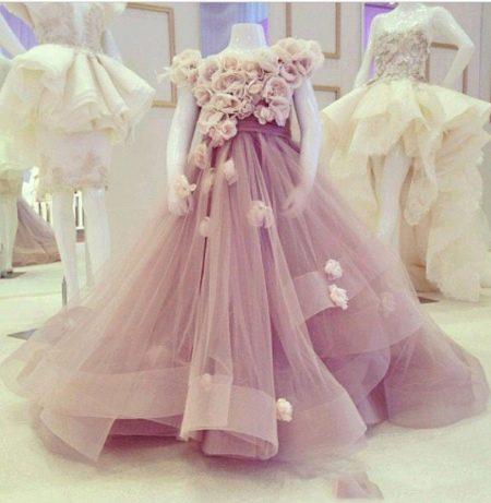 Шикарное дизайнерское  пышное платье для девочки