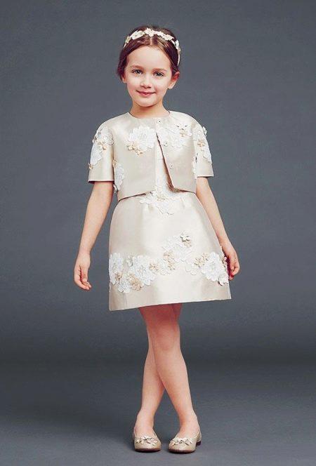 Шикарное пышное платье для девочки от Дольче Габано