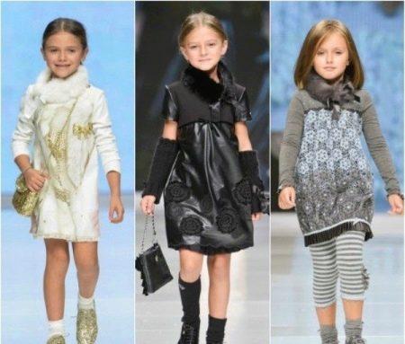 Зимнее платье с мехом для девочек