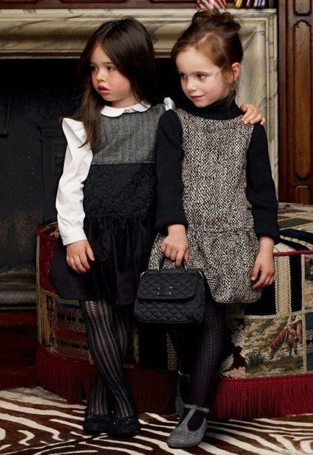 Зимнее платье-сарафан для девочек
