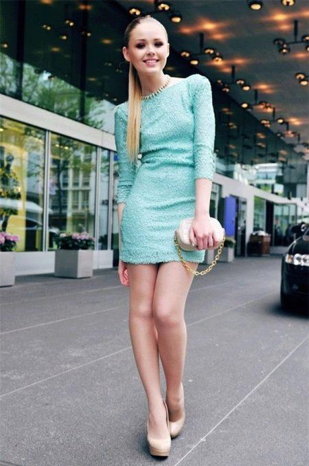 Платье-футляр с рукавом своими руками