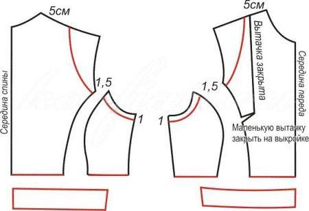 Готовая выкройка платья-футляра
