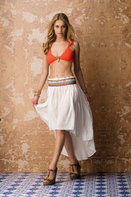пляжная юбка на резинке