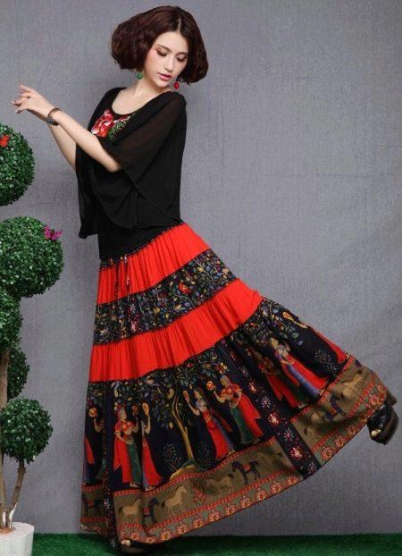 Как сшить цыганскую юбку своими руками видео