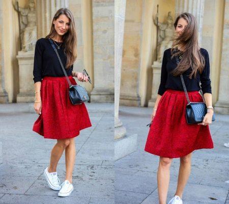 Фасоны красных юбок фото