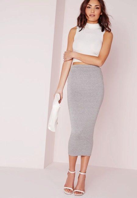 Обтягивающие юбки ниже колена как носить